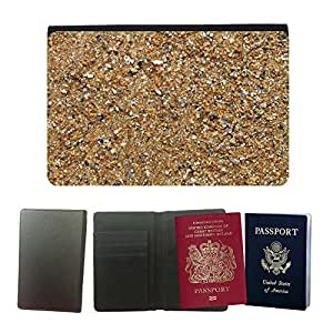 Hot Style PU Leather Travel Passport Wallet Case Cover // M00152688 Sand Sea Beach Nature Ocean Texture // Universal passport leather cover