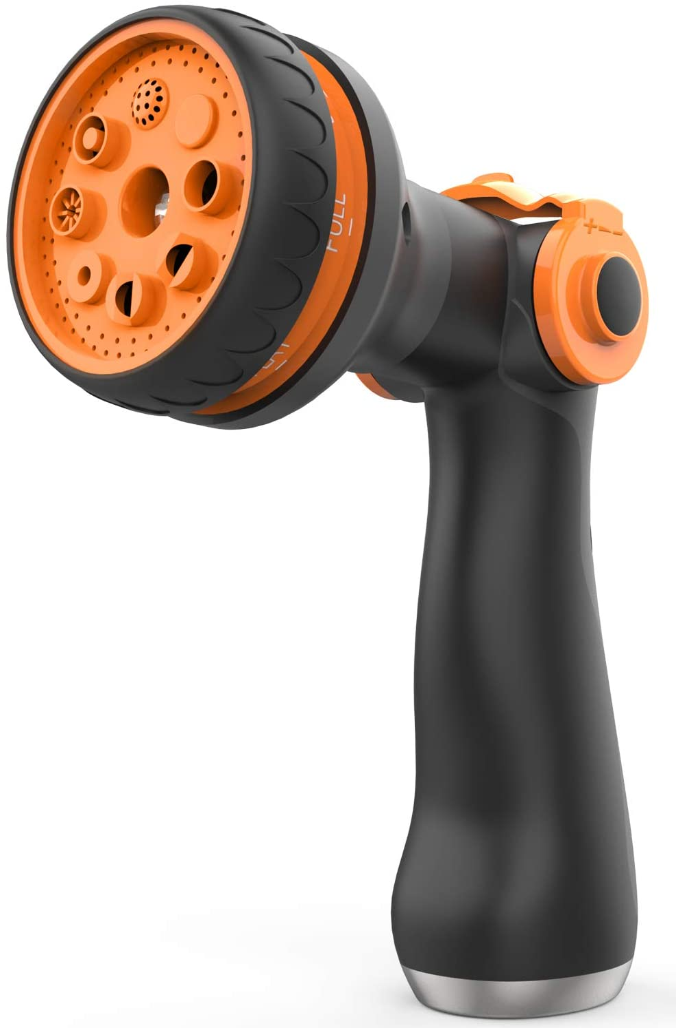 Waysonl Hose Nozzle Garden, Spray Nozzle High Pressure with 8 Adjustable Watering Patterns Thumb Control, Slip Resistant Heavy Duty Water Hose Nozzle for Garden Hose, Watering, Washing, Cleaning : Garden & Outdoor
