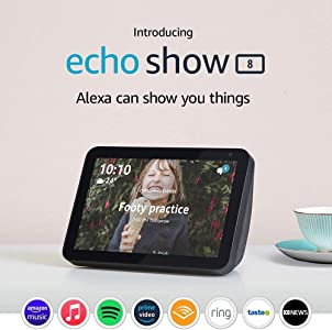 "Echo Show 8 - HD 8"" smart display with Alexa - Charcoal Fabric"