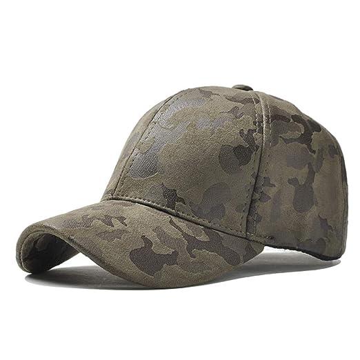 Cozylkx Unisex Camouflage Baseball Cap Militares Gorras Snapbacks Caps Adjustable(ArmyGreen)