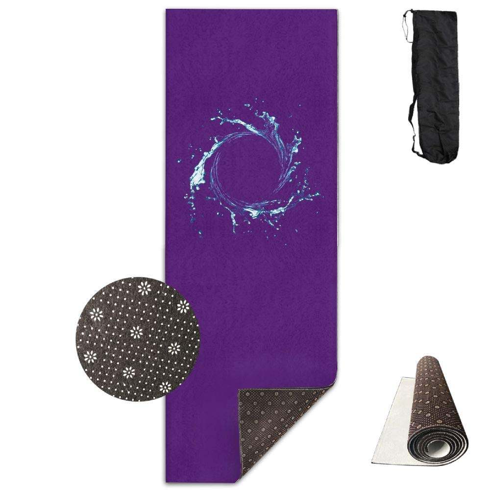 Bghnifs Dynamic Wave -Purple Printed Design Yoga Mat Extra Thick Exercise & Fitness Mat Fit Yoga,Pilates,Core Exercises,Floor Exercises,Floor Exercises