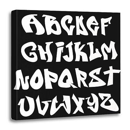 Amazon Com Emvency Canvas Prints Square 20x20 Inches Letter