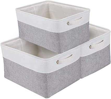 cestas organizadoras color gris claro 30 cm x 30 cm x 30 cm N// A Cubo de almacenamiento con tapa plegable de tela para ropa
