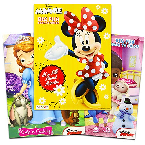 Disney Coloring and Activity Book Assortment - 3 Full-sized Coloring Books - 96 Pgs -