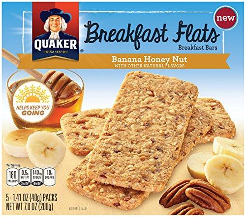 Breakfast Flats, Banana Honey Nut, Breakfast Bars, 5-7.0 OZ (Pack of 8)