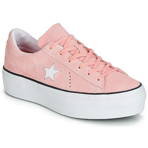 6e5d7d6a2d891 Converse ONE Star Platform Seasonal Color OX Trainers Women Pink ...