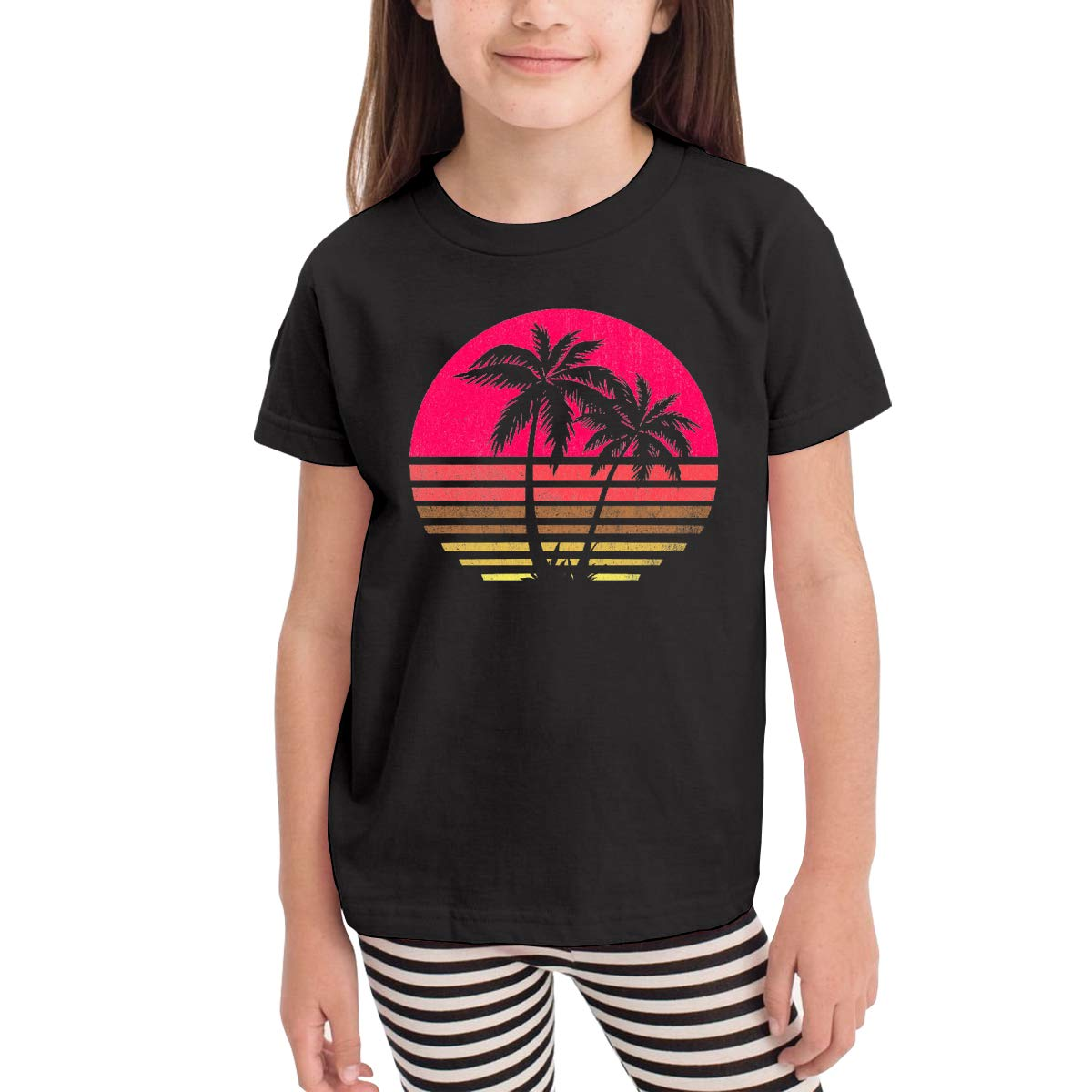 Onlybabycare Retro Costa Rica Palm Tree 100/% Cotton Toddler Baby Boys Girls Kids Short Sleeve T Shirt Top Tee Clothes 2-6 T