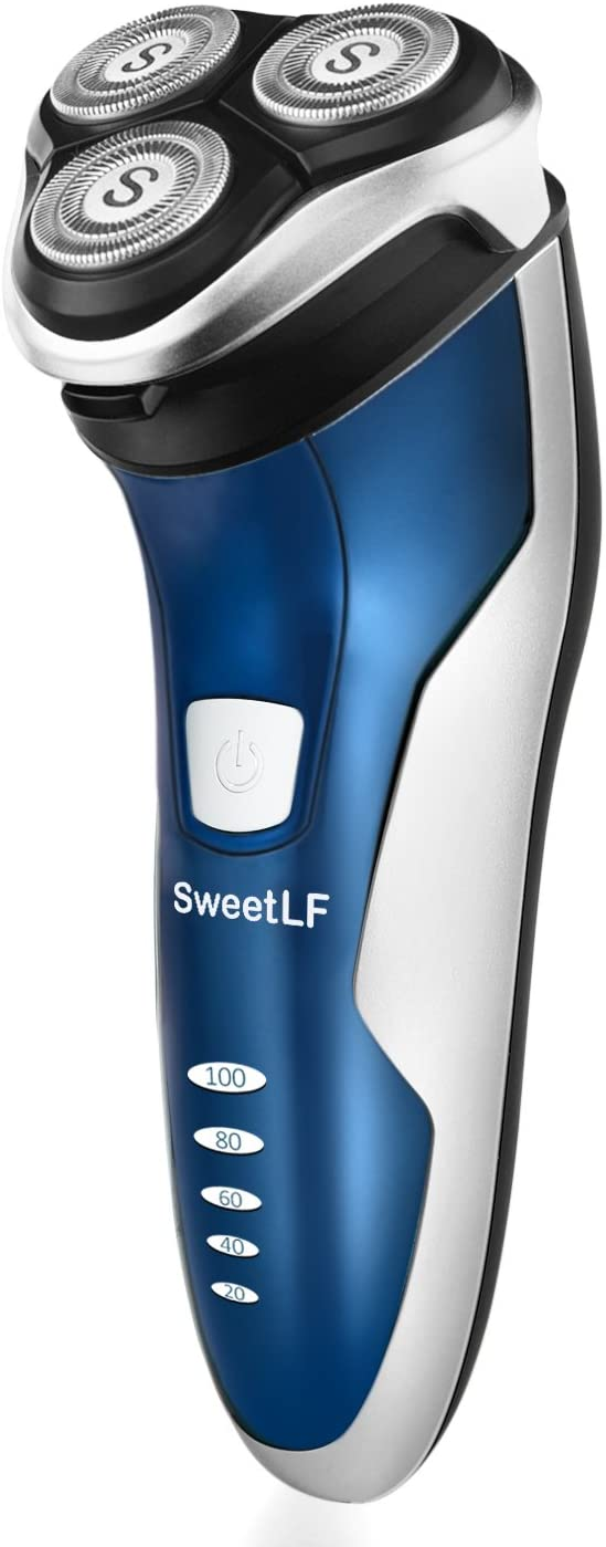 SweetLF Wet /& Dry Rasoio Elettrico Barba Uomo Ricaricabile Rasoio Barba Imper...