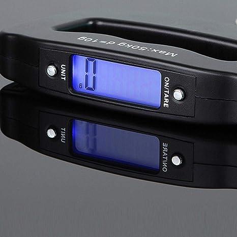SHJNHAN - Báscula digital portátil para colgar pescado (50 kg/10 g)