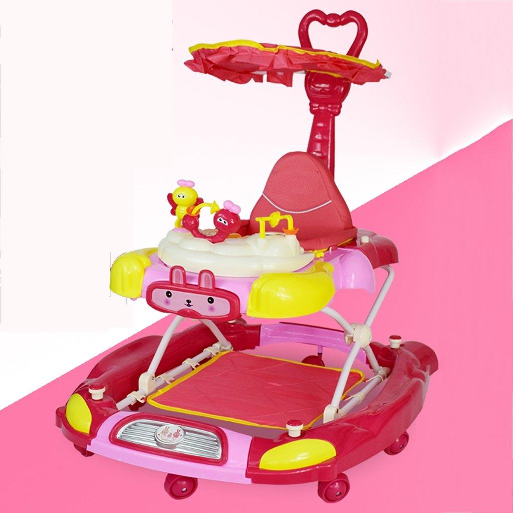 HAIZHEN マウンテンバイク ベビーウォーカー6/7-18ヶ月アンチロールオーバ多機能折り畳み可能な音楽の高さ調節可能なプッシュハンドル調整可能な座席幅のウィニングボールホイール赤ちゃんキャリッジ82 * 69 * 40-46センチメートル 新生児 B07DMNRV1C 1 1
