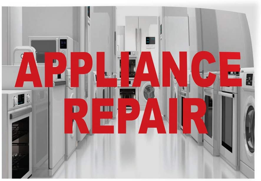 Set of 2 52inx34in Decal Sticker Multiple Sizes Appliance Repair Business Business Appliance Repair Outdoor Store Sign Grey