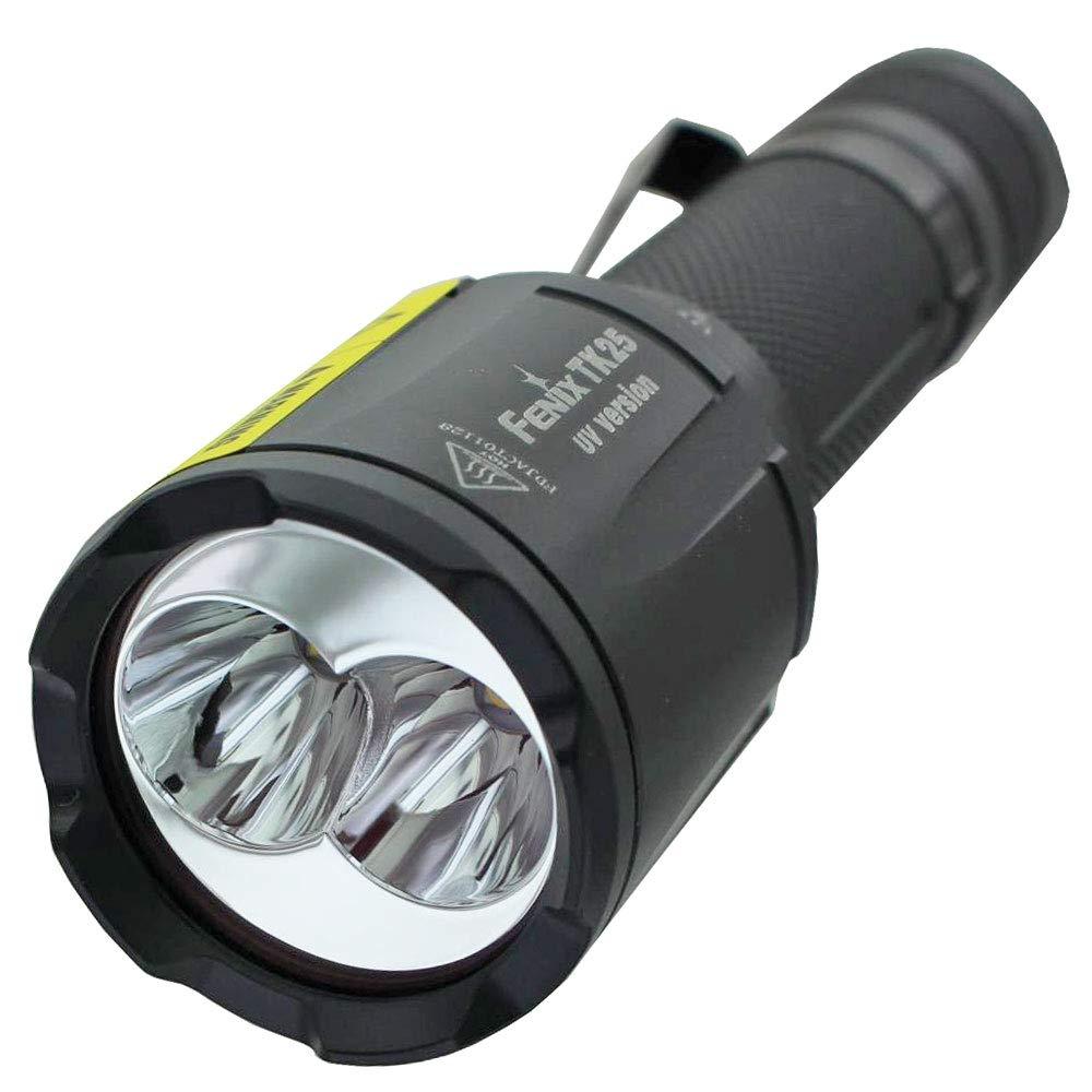 Fenix TK25 UV-Taschenlampe Weiß & UV 1000 Lumen Dual Light für 18650 Akku