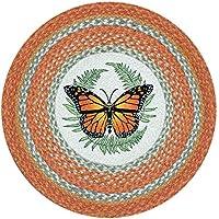Earth Rugs RP-382 Monarch Printed Rug, 27, Orange/Sage/Crème