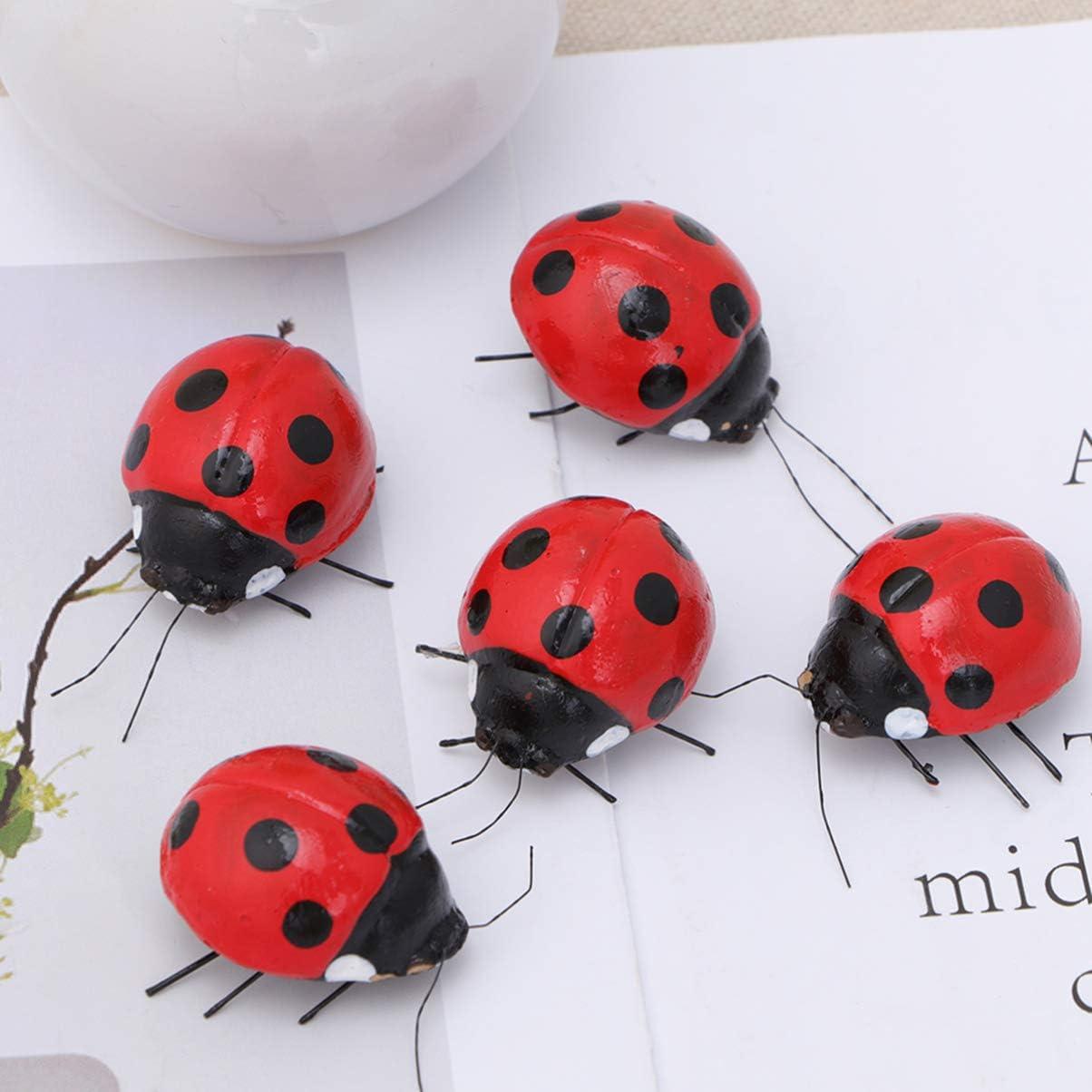 NUOBESTY Ladybug Refrigerator Magnets Decorative Fridge Magnets for Office Kitchen 5 Pcs