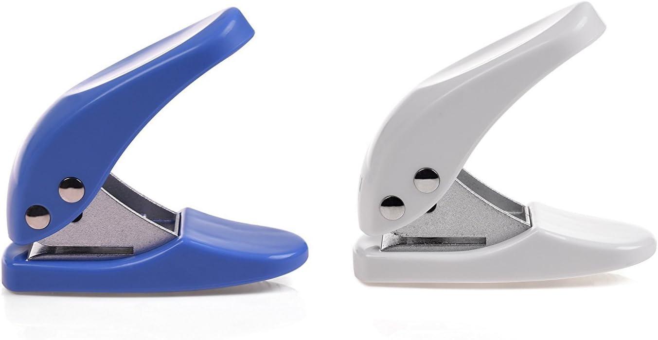 6mm Durchmesser Runde Einlochmontage Punch Handwerkzeug REKYO 4pcs Handheld 1-Loch Metall Punch Papierlocher
