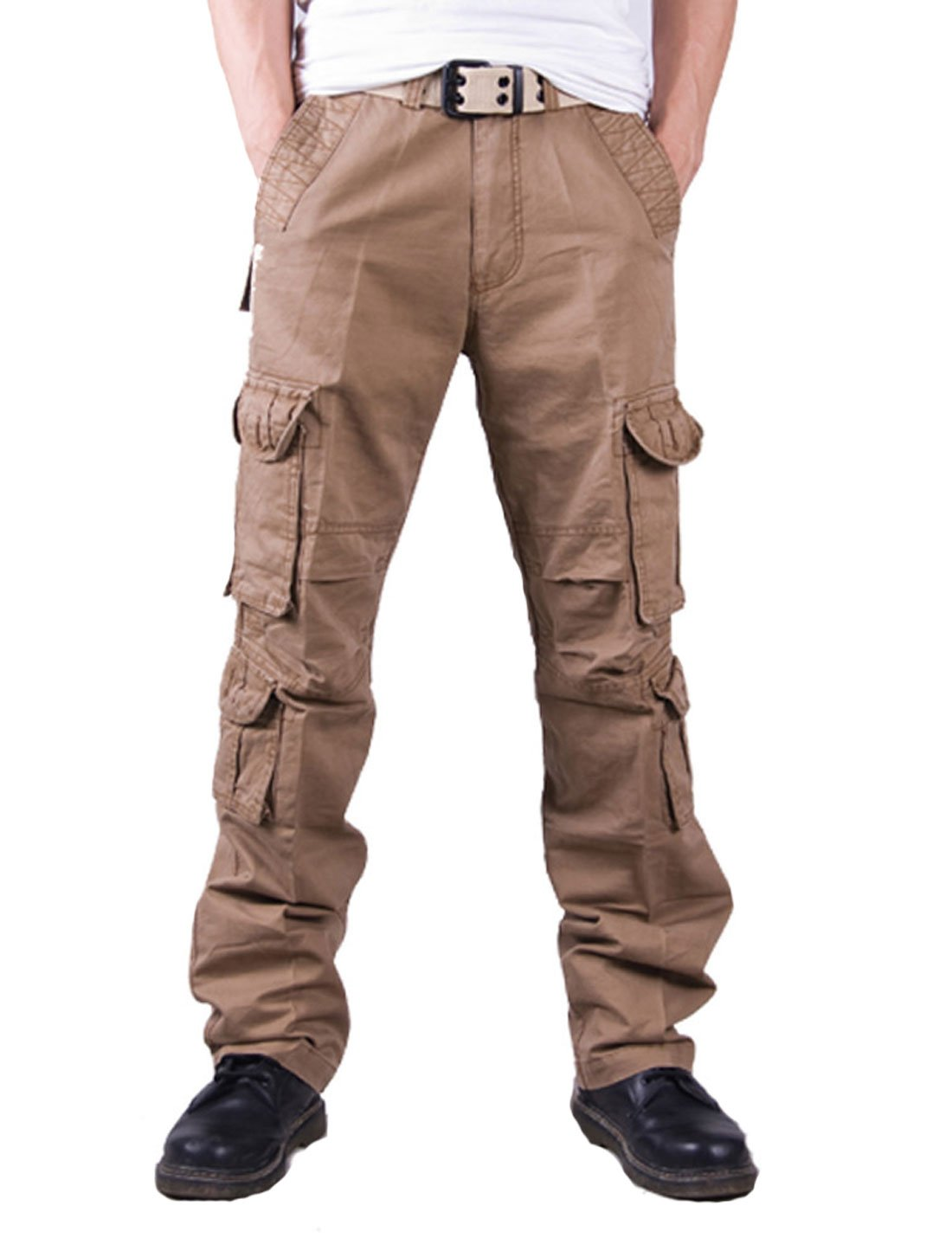 Yeokou Men's Casual Outdoor Camo Military Cotton Wild Cargo Work Pants Trousers