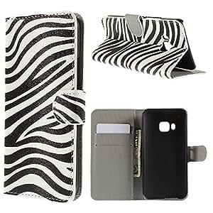 LD A000377 con cartera con tarjetero para HTC One M9-Zebra