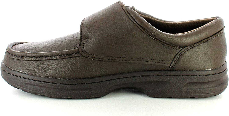 Dr Keller Texas homme en cuir marron large Fit Touch Attachez Casual Chaussures Confort