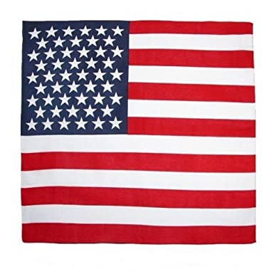 Foulard bandana USA drapeau américain - 55 cm x 55 cm - Moto biker country  vintage 0c5970b89a6