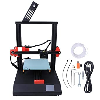 AnetET4産業用3Dプリンター、高精度の家庭用デスクトップ印刷プラットフォーム、PLAフィラメントを備えたDIYオフライン印刷キット、DIYプリンター400x340x480mm(US110V)