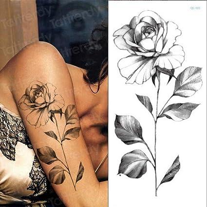 Handaxian 3pcs-Temporal Etiqueta engomada del Tatuaje Flor Peonía ...