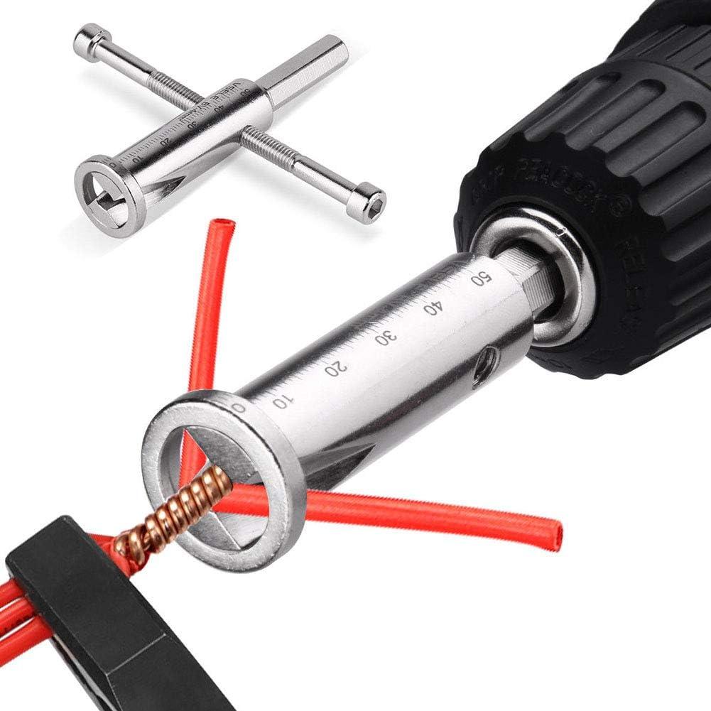 freiner Outil Pince /à d/énuder Bonne Performance avec perceuse /électrique /à fil Accessoires de qualit/é de haute pr/écision Torsion outils Pince /à d/énuder free size argent/é