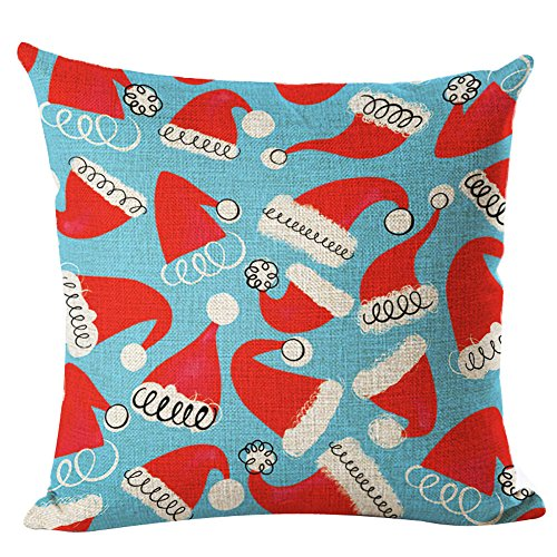 Christmas Rectangle Cushion Cover Silk Best Gift Square