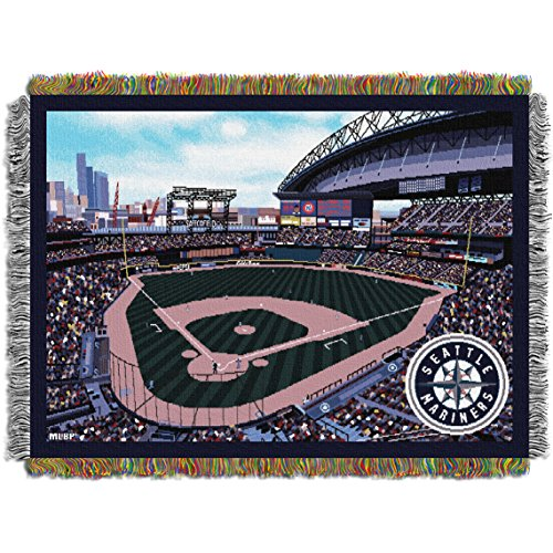 Mariners Safeco Park OFFICIAL Major League Baseball, Stadium 48x 60 Woven Tapestry Throw