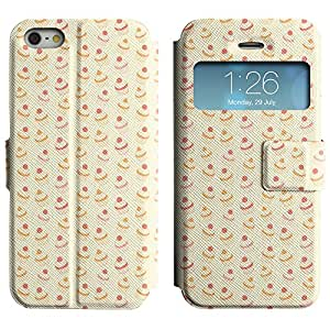 AADes Scratchproof PU Leather Flip Stand Case Apple iPhone 5 / 5S ( Yummy Cupcakes )