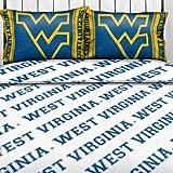 NCAA West Virginia Mountaineers Logo Full Bed Sheet Set