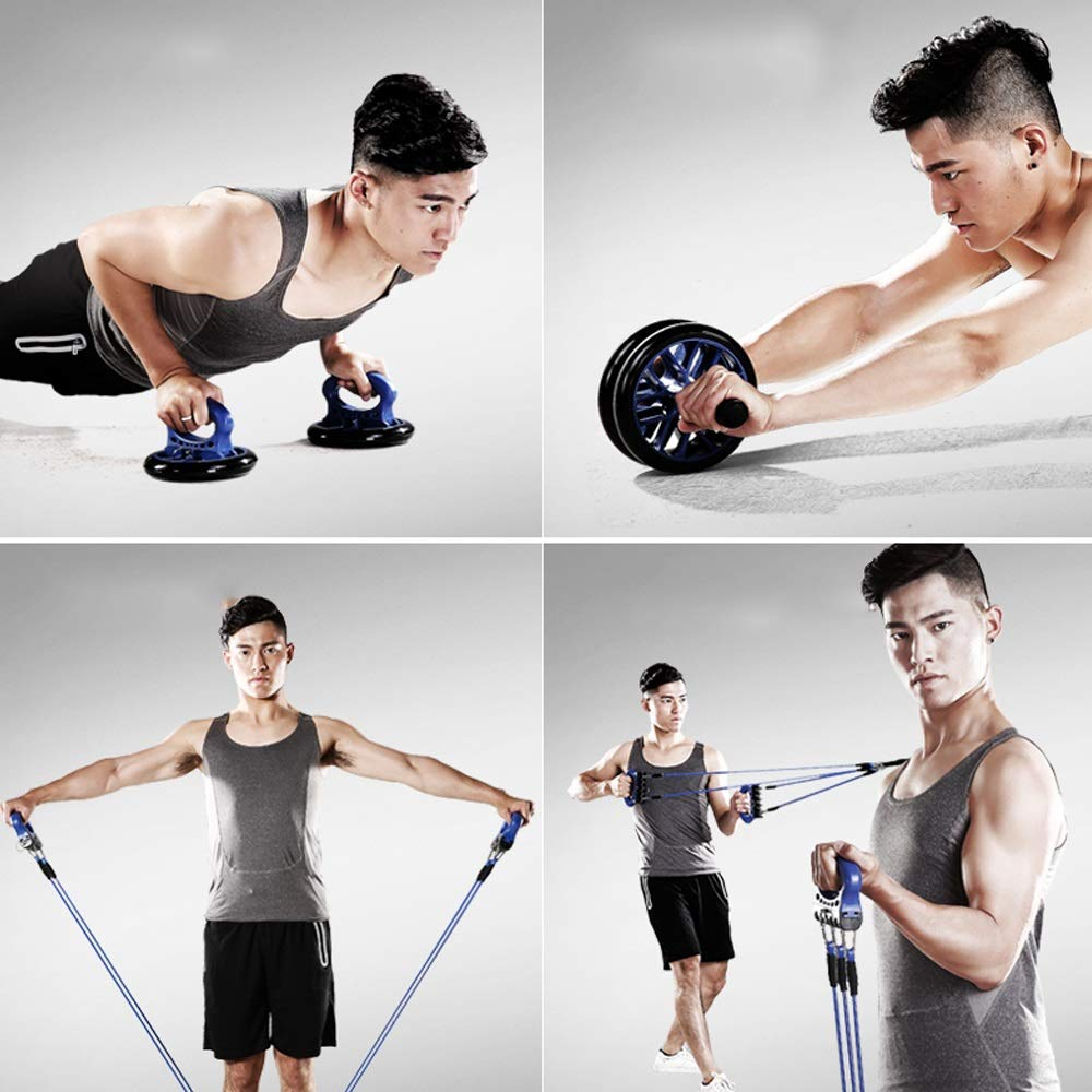 Byx- Fitness Equipment Home Multi-Functional Trainer Men and Women Sports Abdomen Calcined Chest Muscles Abdominal Abdomen Roller Rolling -Roller Wheel (Color : A) by Byx- (Image #3)