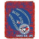 MLB Toronto Blue Jays 48 x 60-Inch Double Play Jacquard Triple Woven Throw