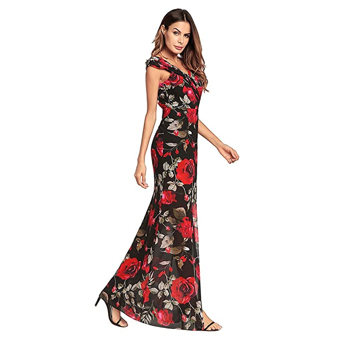 Womens Dress Formal Evening Maxi Ball Gown Prom Dresses,Long Cocktail Lace Fishtail Occasion Dresses For Women (Size : XXL) : Amazon.co.uk: Clothing