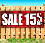 SALE 15% OFF 13 oz heavy duty vinyl banner sign with metal grommets, new, store, advertising, flag, (many sizes available)
