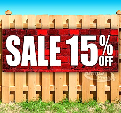 SALE 15% OFF 13 oz heavy duty vinyl banner sign with metal grommets, new, store, advertising, flag, (many sizes available) by Tampa Printing