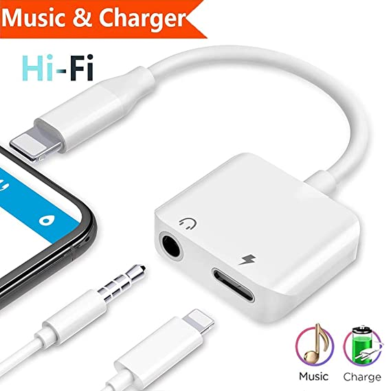 the best attitude 88c19 8325b Headphone Adapter 3.5mm Jack Adaptor Charger for iPhone7/7Plus/X/Xs/XSmax  for iPhone 8/8Plus,Earphone 3.5mm Adaptor Cable AUX Audio&Wire Control ...