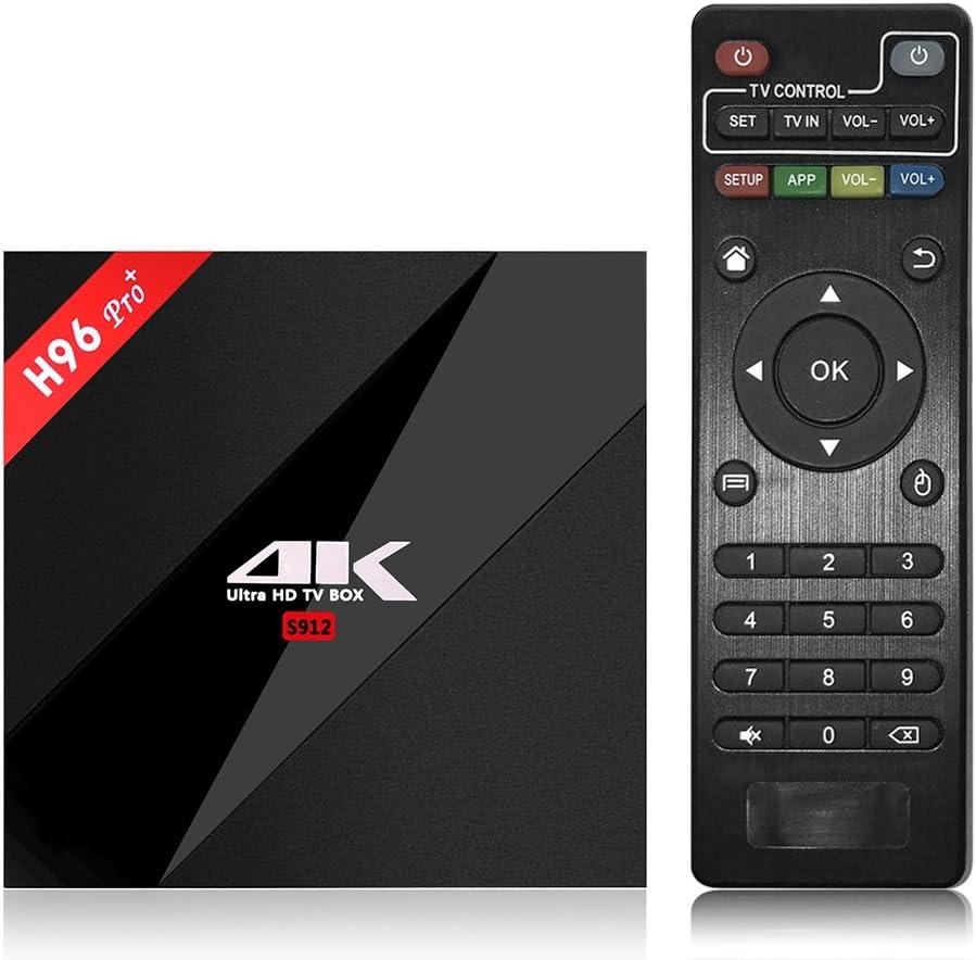 Docooler H96pro+ Smart Android TV Box Android 6.0 Amlogic S912 Octa Core UHD 4K 3GB / 32GB Mini PC 1000LAN 2.4G & 5.0G WiFi DLNA Miracast H.265 Media Player EU Enchufe: Amazon.es: