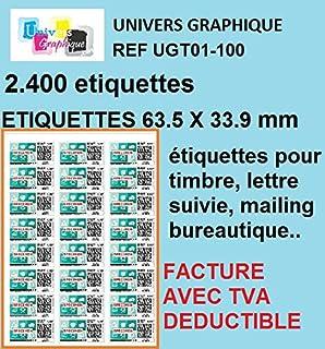 Avery L7159 Boîte De 240 Etiquettes Autocollantes Pour Timbres (24 ...