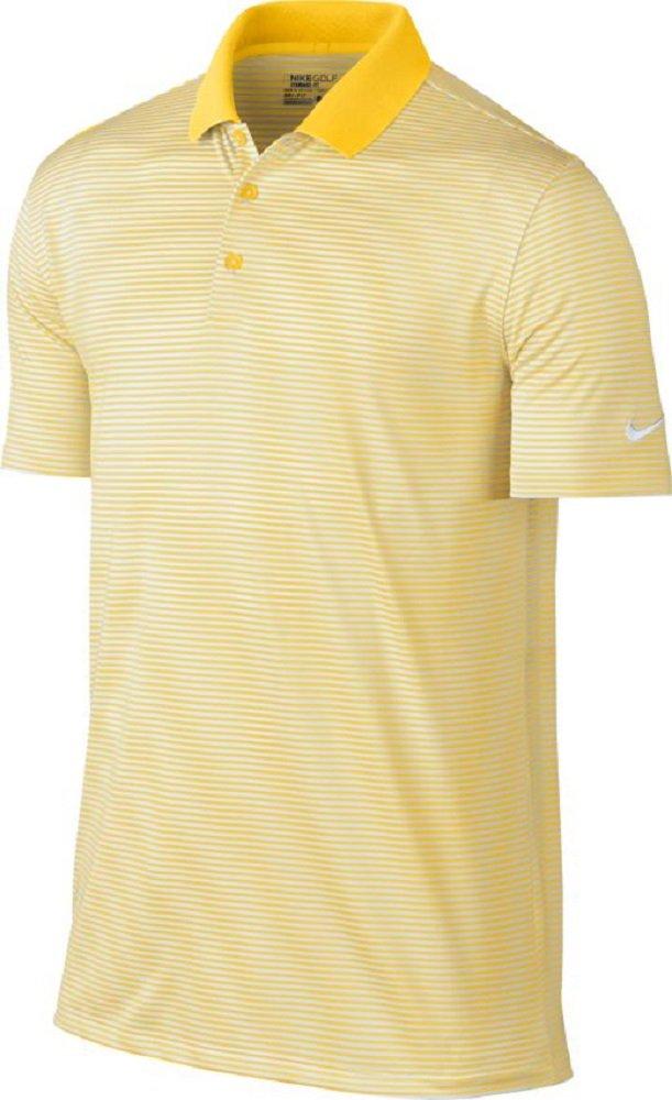 ナイキ ゴルフ DRI-FIT ヴィクトリー ミニ ストライプ 半袖ポロシャツ B01BJZPF6I Small|Amarillo/White Amarillo/White Small