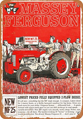 Wall-Color 7 x 10 METAL SIGN - Massey-Ferguson MF 25 Tractors - Vintage Look Reproduction