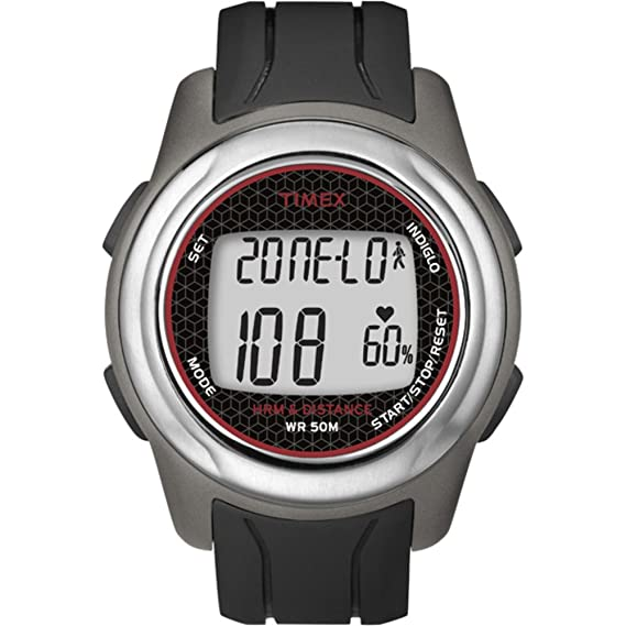 Timex T5K560 monitor de ritmo cardiaco - Monitor de ritmo cardíaco (50m, Negro,