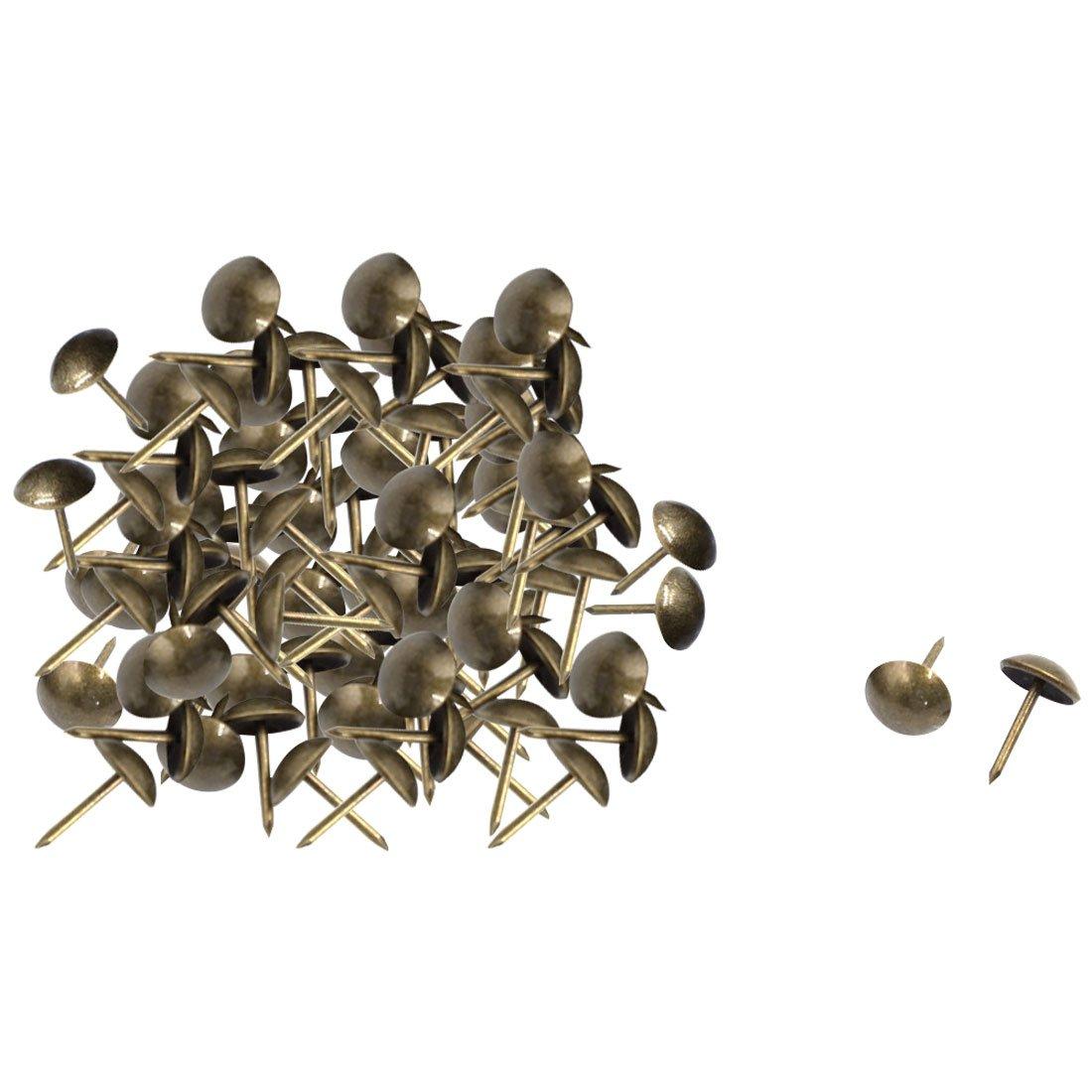Steel Home Notice Board Thumb Tacks 11mm x 17mm 100pcs Bronze Tone uxcell a15090400ux0179