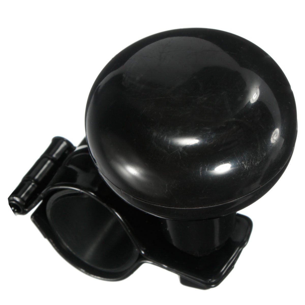MATCC Pomo Volante Mango de Volante Rotatorio Universal Negro para Coche