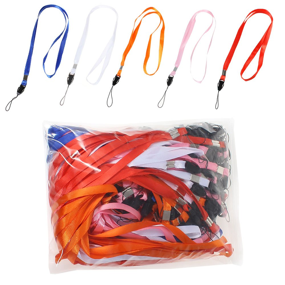 100 Piezas Colores Mezclados Correa para el cuello para la de identificación LM001: Amazon.es: Hogar
