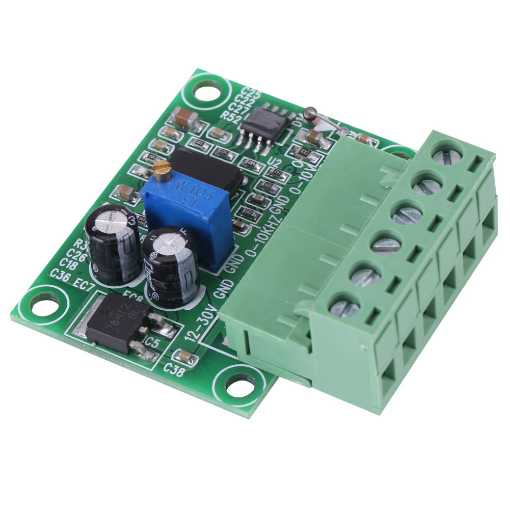 0-10KHz to 0-10V Module de Convertisseur de Fréquence en Tension F/V Carte Numérique à Analogique pour la Commutation de l'API et de l'oOnduleur VFD Walfront