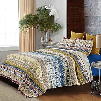 Amazon Com Hedaya Home Fashions 372 3st Jazmin Reversible