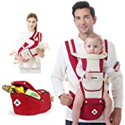 Baby Carrier Sling All Carry with Hip Seat 360 All Carry Positions Award-Winning Ergonomic Baby Seats (RED)