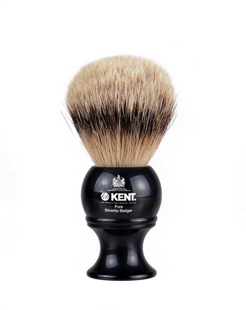 Kent BLK8 Pure Silver Tip Badger Shaving Brush