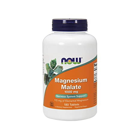 Now Foods Magnesium Malate 1000mg Standard - 180 Unidades ...