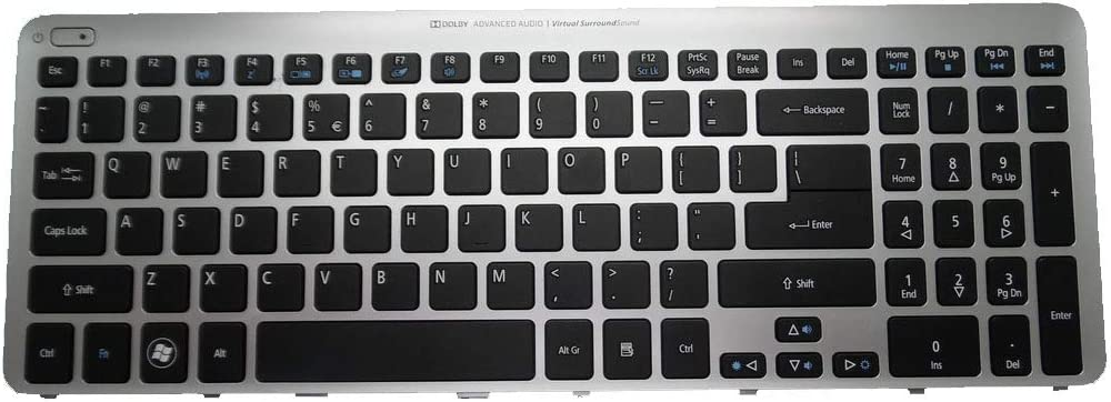 Laptop Keyboard for Acer Aspire V5-571 MP-11F53U4-528 0KN0-762UI1212 NK.I1713.00W NO Frame United States US New